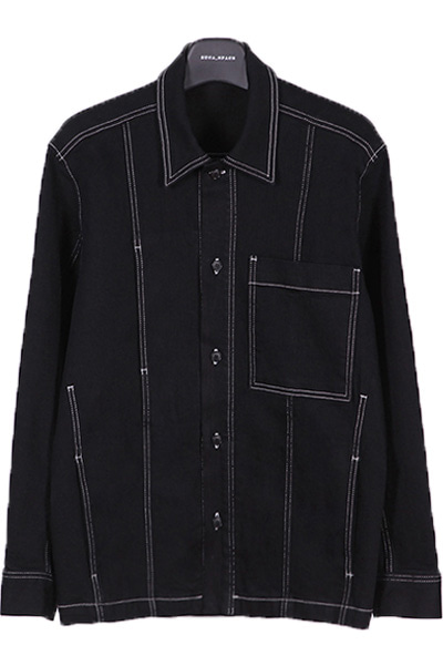 top stiching denim shirt셔츠켓
